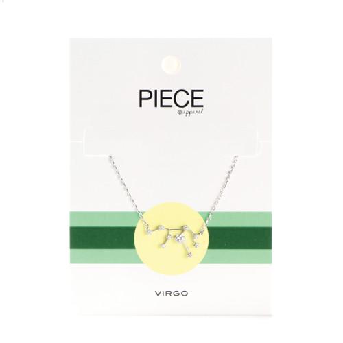 Virgo Constellation Necklace - Silver