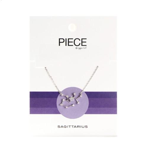 Sagittarius Constellation Necklace - Silver