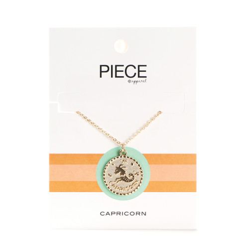 Capricorn Coin Necklace - Gold