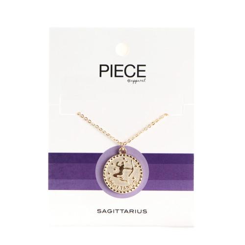 Sagittarius Coin Necklace - Gold