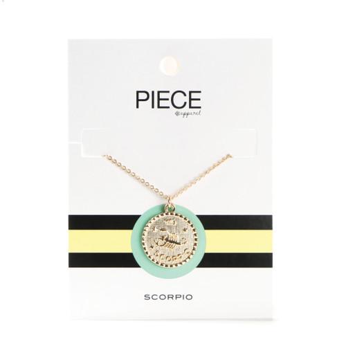Scorpio Coin Necklace - Gold