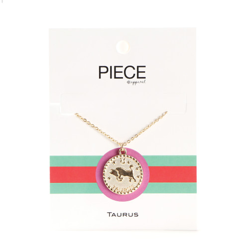 Taurus Coin Necklace - Gold