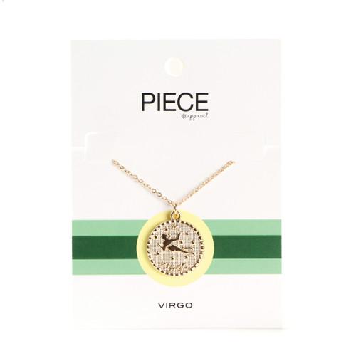 Virgo Coin Necklace - Gold