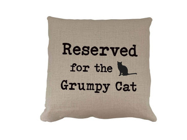 Morning Cuppa Reserved For The Grumpy Cat Cushion
