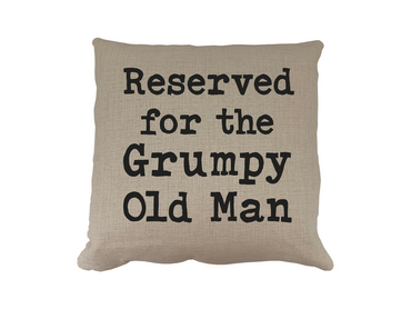 Morning Cuppa Reserved For The Grumpy Old Man Cushion