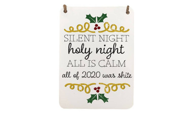 Morning Cuppa Silent Night 2020 Edition Christmas A5 Metal Plaque