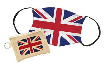 Morning Cuppa Union Jack Face Mask With Face Mask Pouch