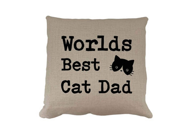 Morning Cuppa Worlds Best Cat Dad Cushion