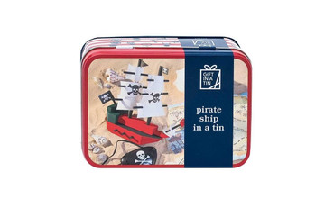 Gift in a Tin Pirate Ship In A Tin - Toy - Wood Construction Set