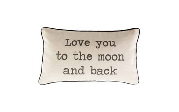 Sass and Belle Love You to the Moon and Back Rustic Cushion
