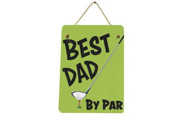Morning Cuppa Best Dad By Par Mini Metal Plaque