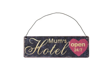 The Original Metal Sign Co Mums Hotel Open Sign