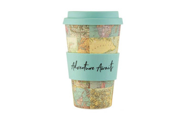 Sass and Belle Map Collage Bamboo Cup