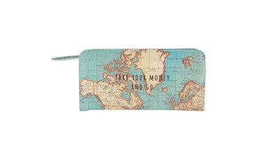 Sass and Belle Vintage Map Wallet