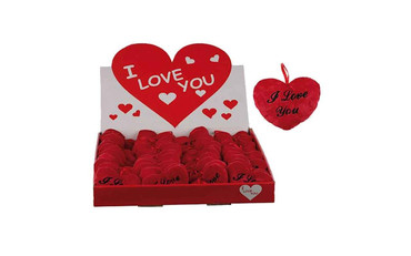 Valentines I Love You Red Heart Plush