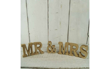 Wooden Block Plaques Wooden Mr and Mrs
