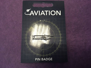 Planes Helicopter Pin Badge