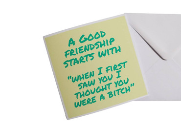 Morning Cuppa A Good Friendship Starts With Card