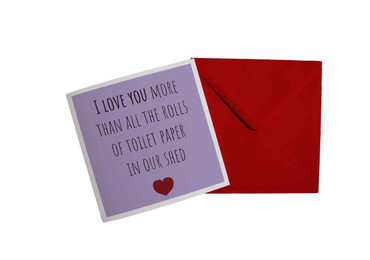 Morning Cuppa A Love More Than Toilet Roll Card