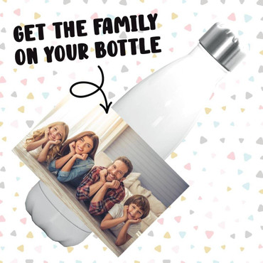 Morning Cuppa Personalised Image Bottle 500ml