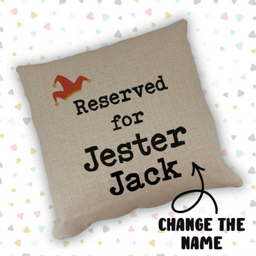 Morning Cuppa Reserved For Jester Custom Name Cushion