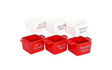 Sifcon Square Christmas Snack Bowls