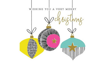 The Art File Pastel Baubles Christmas Card Pack