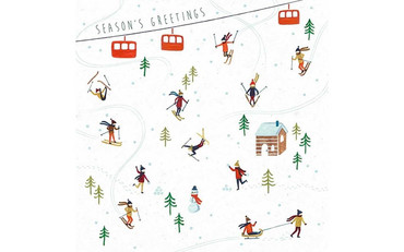 The Art File Skiing Christmas Card Pack