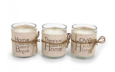 Rosefields Small Linen Candle