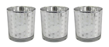 Rosefields Silver Mirror Candle Holders