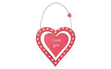 Sass and Belle I Love You Dainty Heart Plaque