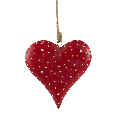 Sass and Belle Fairy Tale Dotty Heart Hanging Decoration
