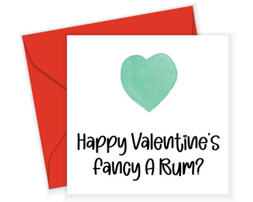 Morning Cuppa Fancy A Bum Valentines Card