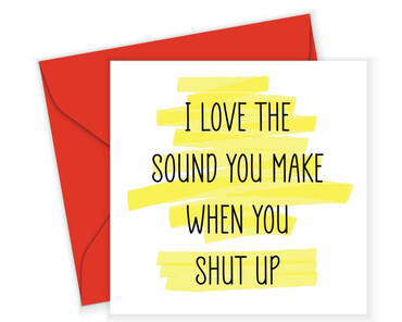 Morning Cuppa I Love The Sound You Make Card
