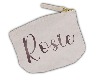 Morning Cuppa Natural Coin Purse With Personalised Name