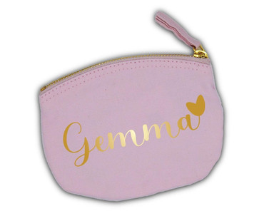 Morning Cuppa Baby Pink Purse With Personalised Name