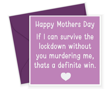 Morning Cuppa Happy Mothers Day Lockdown Card