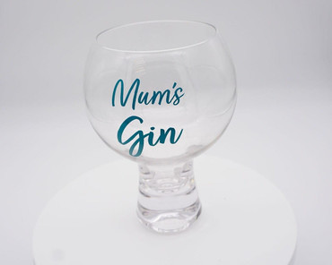 Morning Cuppa Mums Gin Glass Teal