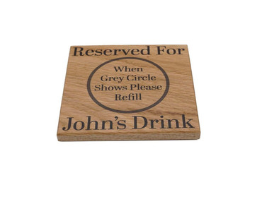 Morning Cuppa Personalised Reserved For Oak Coaster