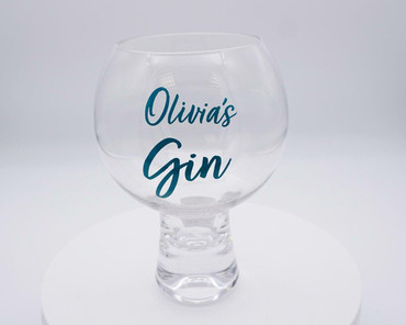 Morning Cuppa Personalised Gin Glass Teal