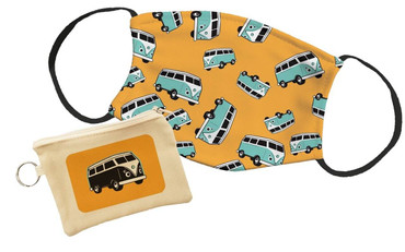 Morning Cuppa Blue Camper Pouch With Face Mask