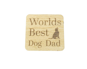 SHG at Home Worlds Best Dog Mum And Dog Dad Coaster Twin pack