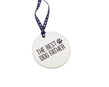 Morning Cuppa The Best Dog Father Ceramic Hanger