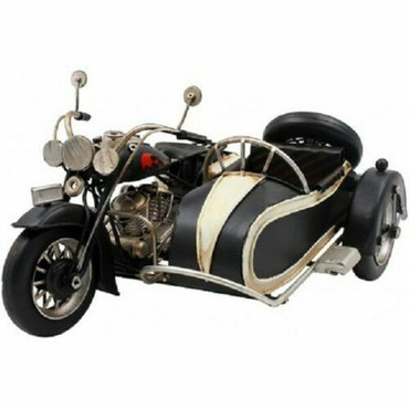 Lesser and Pavey Vintage Black Motorcycle and Cart