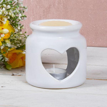 Lesser and Pavey Wax Oil Warmer Heart White