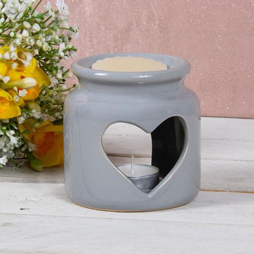 Lesser and Pavey Wax Oil Warmer Heart Grey Large