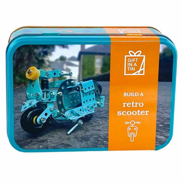 Gift in a Tin Retro Scooter in a Tin - Construction Set Toy