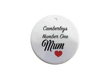 Morning Cuppa Camberleys Number One Mum Circle Ornament