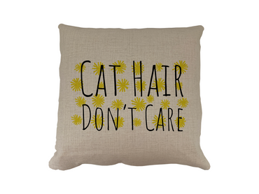 Morning Cuppa Cat Hair Dont Care Cushion