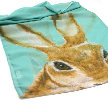 Black Ginger Cosmo the Hare Scarf